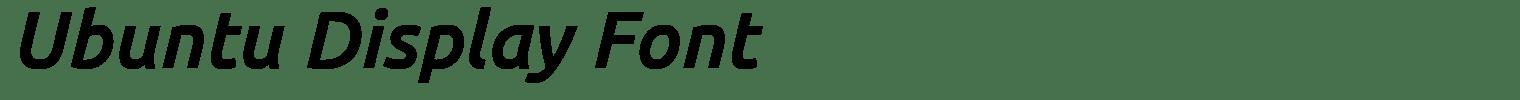 Ubuntu Display Font
