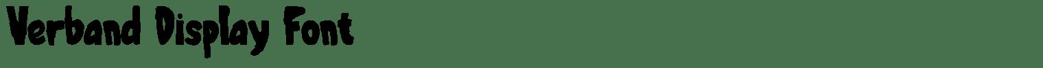 Verband Display Font