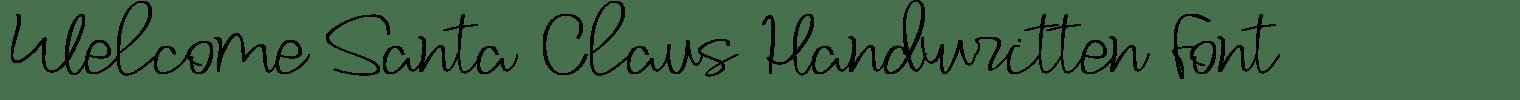 Welcome Santa Claus Handwritten Font