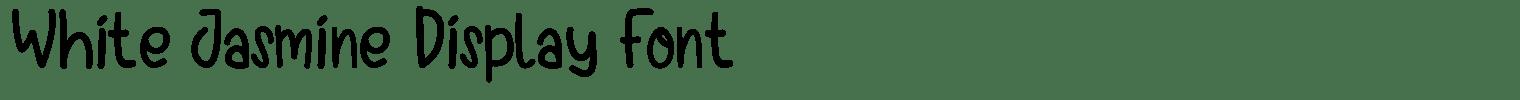 White Jasmine Display Font