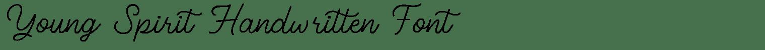Young Spirit Handwritten Font