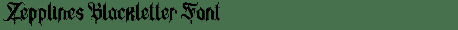 Zepplines Blackletter Font