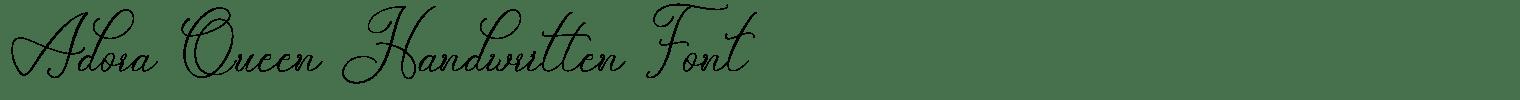 Adora Queen Handwritten Font