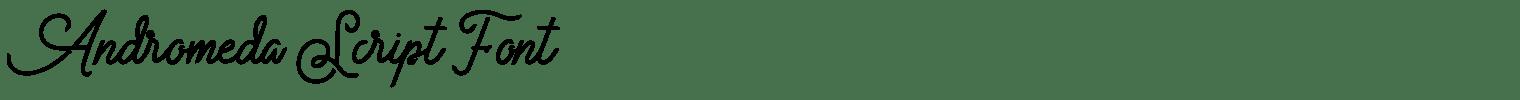 Andromeda Script Font