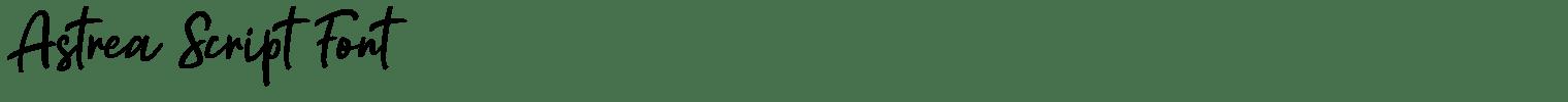 Astrea Script Font