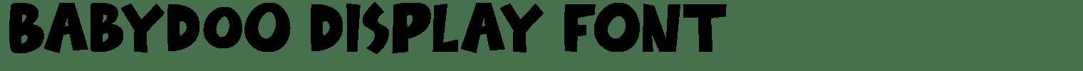 Babydoo Display Font