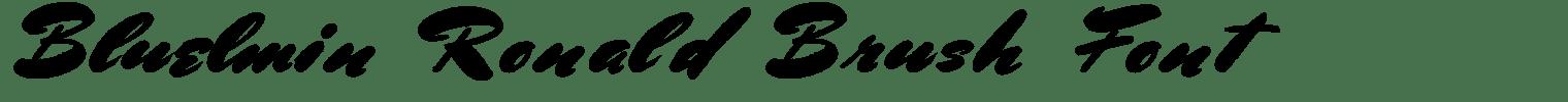 Bluelmin Ronald Brush Font