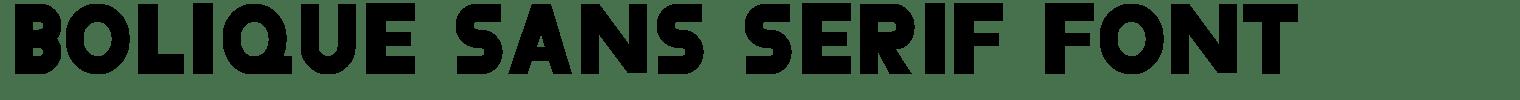 Bolique Sans Serif Font