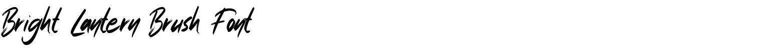 Bright Lantern Brush Font