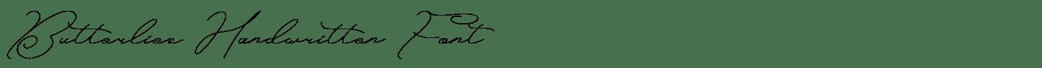 Butterlies Handwritten Font