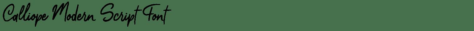 Calliope Modern Script Font