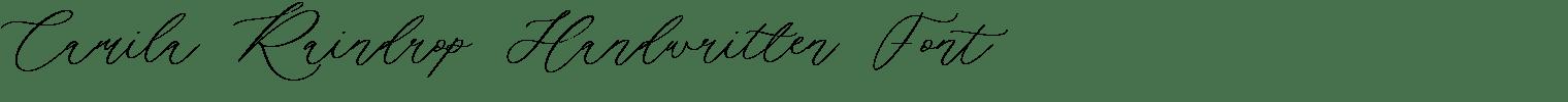 Camila Raindrop Handwritten Font