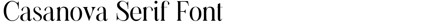 Casanova Serif Font