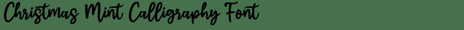 Christmas Mint Calligraphy Font