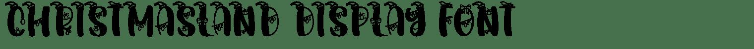 Christmasland Display Font
