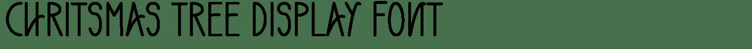 Chritsmas Tree Display Font