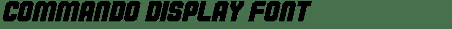Commando Display Font