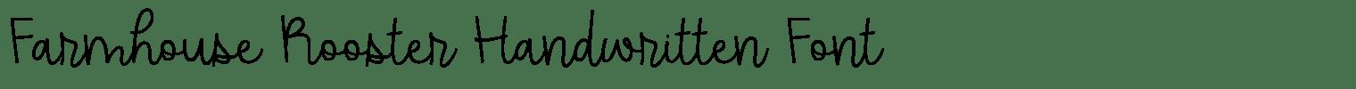 Farmhouse Rooster Handwritten Font