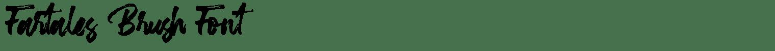 Fartales Brush Font