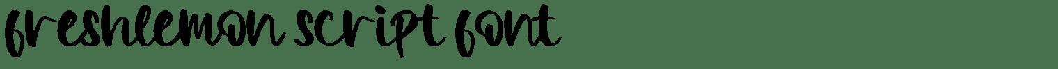 Freshlemon Script Font