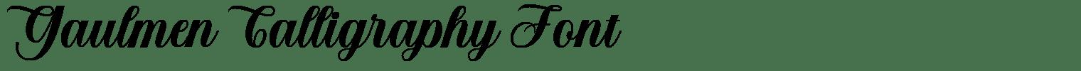 Gaulmen Calligraphy Font