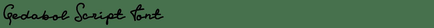 Gedabol Script Font