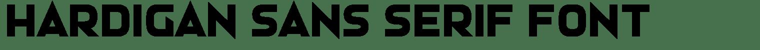 Hardigan Sans Serif Font