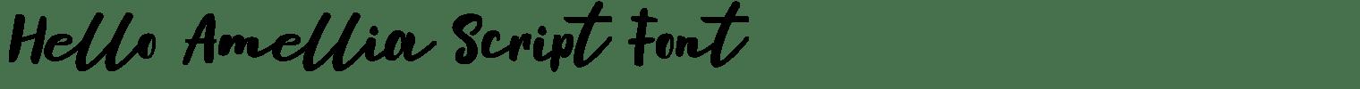 Hello Amellia Script Font