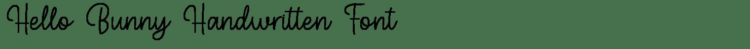 Hello Bunny Handwritten Font