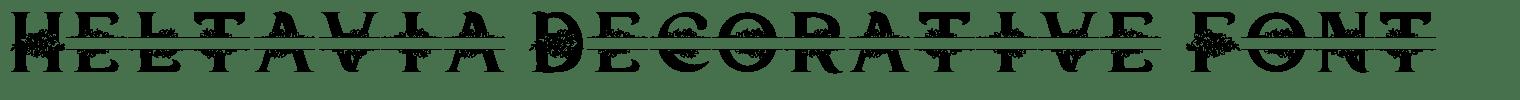 Heltavia Decorative Font
