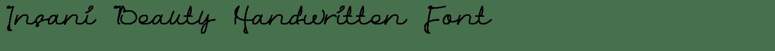 Insani Beauty Handwritten Font