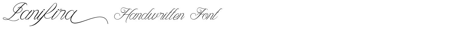 Lanifira Handwritten Font