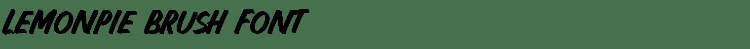 Lemonpie Brush Font