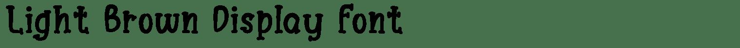 Light Brown Display Font