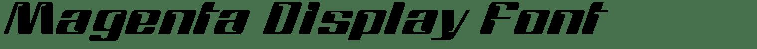 Magenta Display Font