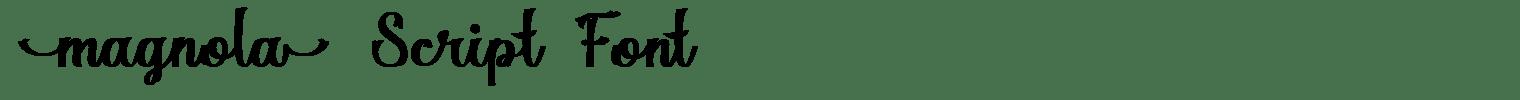 Magnola Script Font