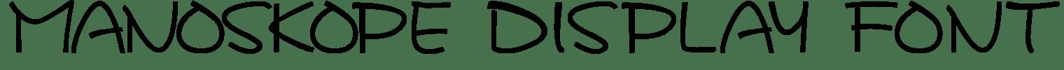 Manoskope Display Font
