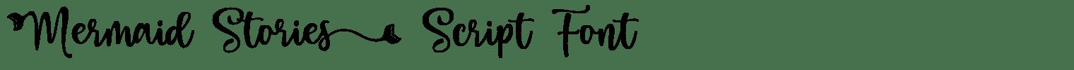 Mermaid Stories Script Font
