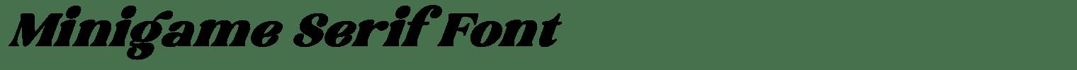 Minigame Serif Font