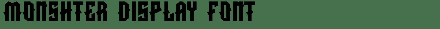 MONSHTER Display Font