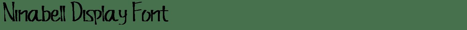 Ninabell Display Font