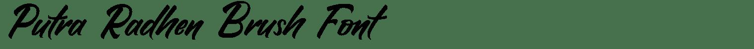 Putra Radhen Brush Font