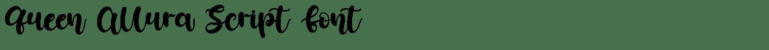 Queen Allura Script Font