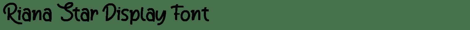 Riana Star Display Font