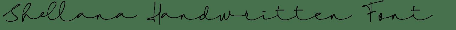 Shellana Handwritten Font