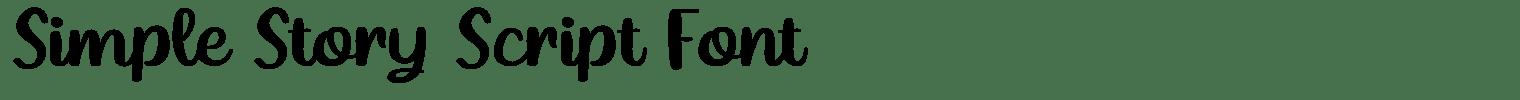 Simple Story Script Font