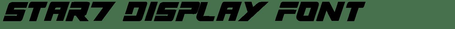 Star7 Display Font