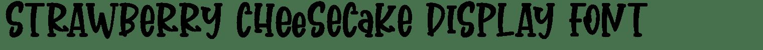 Strawberry Cheesecake Display Font