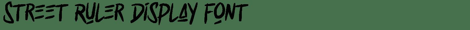 Street Ruler Display Font