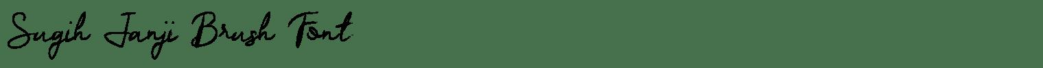 Sugih Janji Brush Font